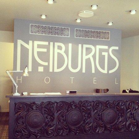 Neiburgs Restaurant: Hotel Neiburgs' reception