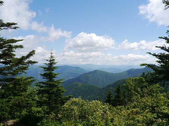 Best Western Smoky Mountain Inn: View from our hike at Water Rock Knob