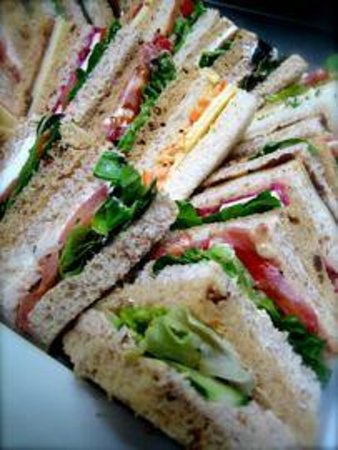 The Whalley Gallery Cafe: Snadwich platters for corporate or special occasions