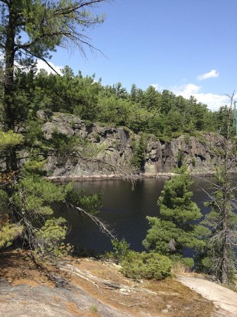 French River Provincial Park: The French River Gorge from a rocky outcrop