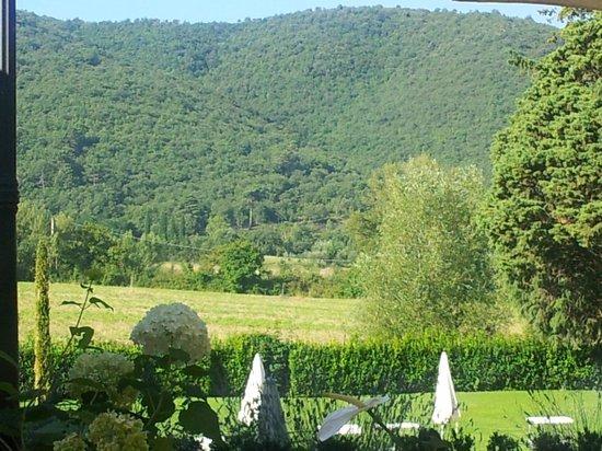 Villa di Piazzano: Breakfast terrace view