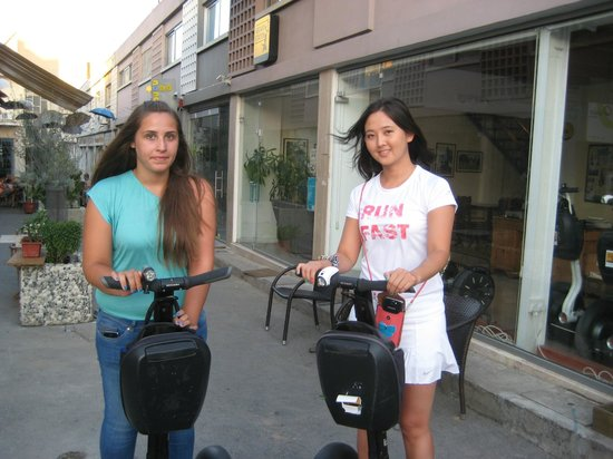 Segway Station Tour Experience: Me and Marina at the start of our night trip ;)