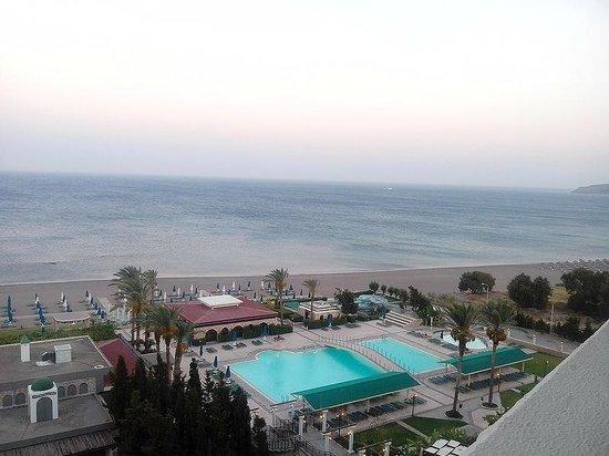 Olympos Beach Resort: Вид вечером из номера