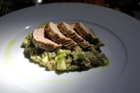 Guana Island: Veal and Mushroom Risotto