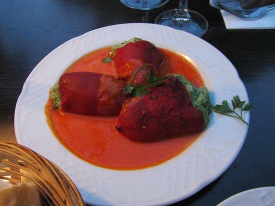 Restaurant Es Moli de Santanyi : filled red peppers