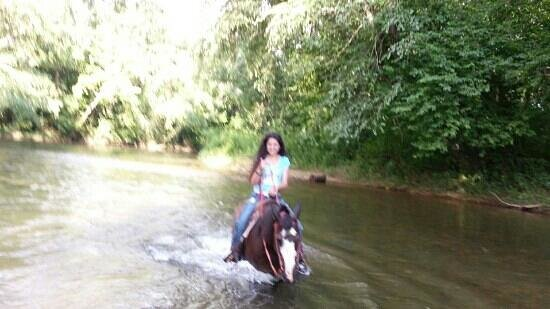 Chattahoochee Stables : Trough the river