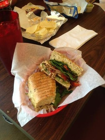 Dagotto's Panini Bistro : Italian Garden Panini, added Turkey.