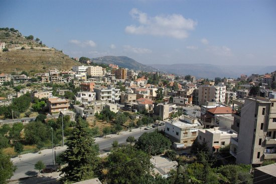 Iris Flower Hotel: View of Jezzine from balcony