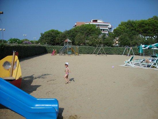 Hotel Italy: spiaggia privata interna
