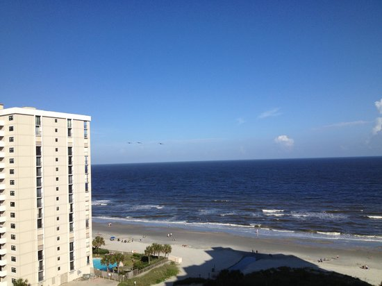 Hilton Myrtle Beach Resort: Nice ocean view from our balcony