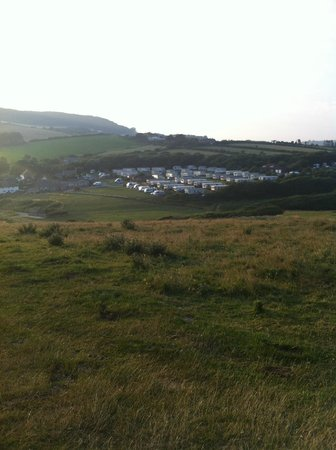 Golden Cap Holiday Park: Looking down towards the campsite