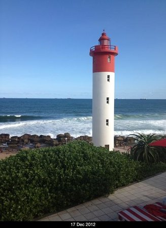 Umhlanga Main Beach : view from oyster hotel at umhlanga rocks