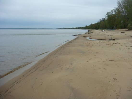 Beach at Brimley State Park