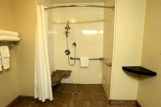 Comfort Suites Clovis: Acessible Bathroom with a Roll in Shower