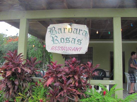 Barbara Rosa's Restaurant : Front of Restaurant