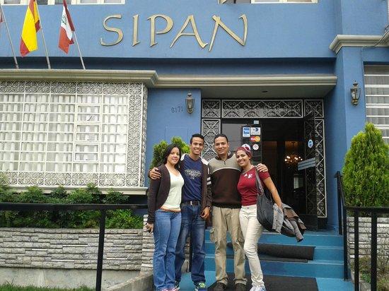 Hotel Sipan : Llegando al hotel