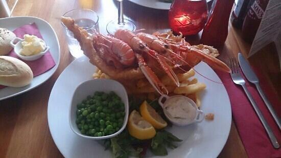 Lochcarron Bistro: Posh fish n chips :-D