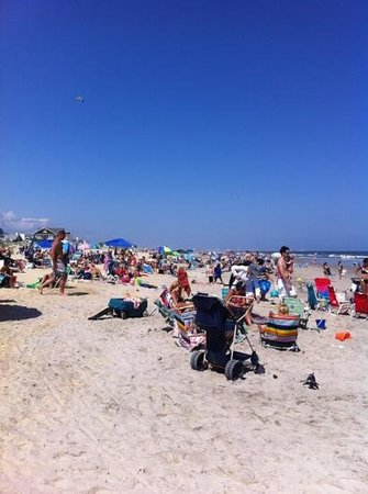 Ocean City Beach: 50th Street Beach in late July 2013