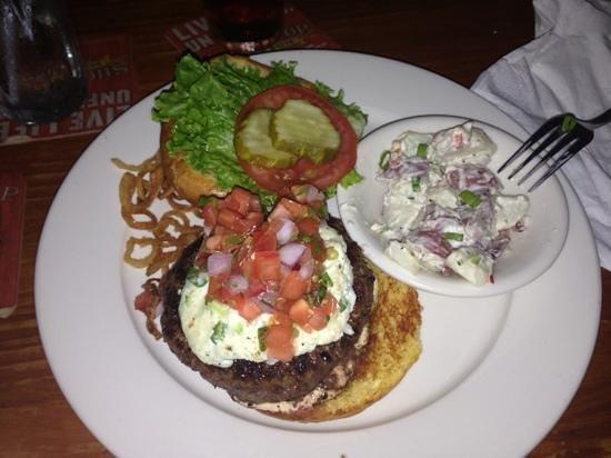 Poe's Tavern : amontillado with potato salad.