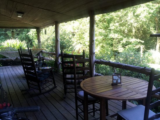 Butterfly Hollow - A Hidden Retreat: The front porch at Butterfly Hollow