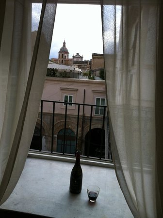 Palazzo Montevago: view from our kitchen