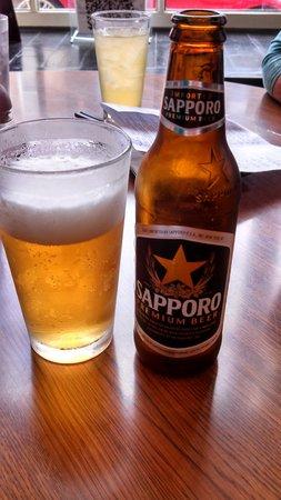 Kusaka Japanese Restaurant: Japanese beer- very good!