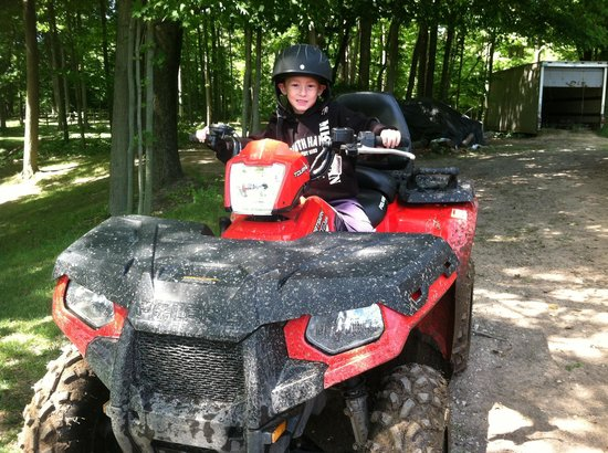 South Haven, MI: Ashton's 1st ATV trip! He Loved It! 6 yrs. old :) what's next?
