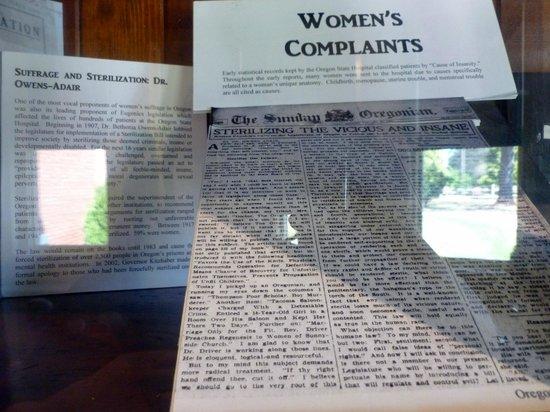 Oregon State Mental Hospital Museum: News clippings regarding sterilization of the insane
