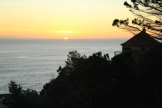 Cape View Clifton: Sunset over the Atlantic from Room 2B