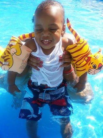 Ramada West Atlantic City: Andre enjoying the pool