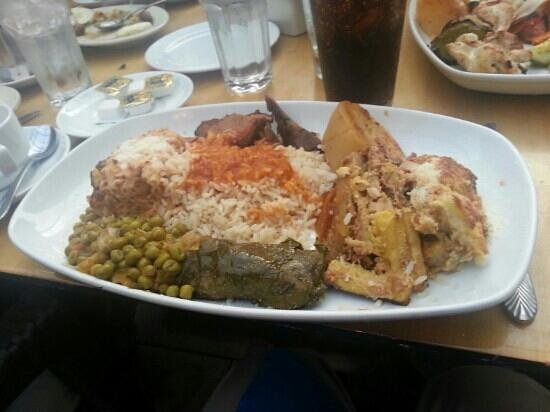 Athena Greek Restaurant : the combination plate