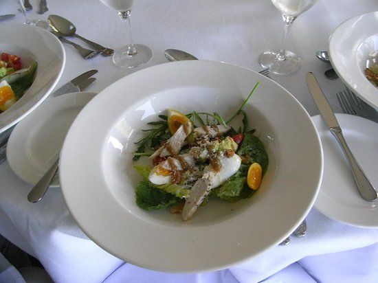 The Restaurant: 鴨と半熟卵の前菜