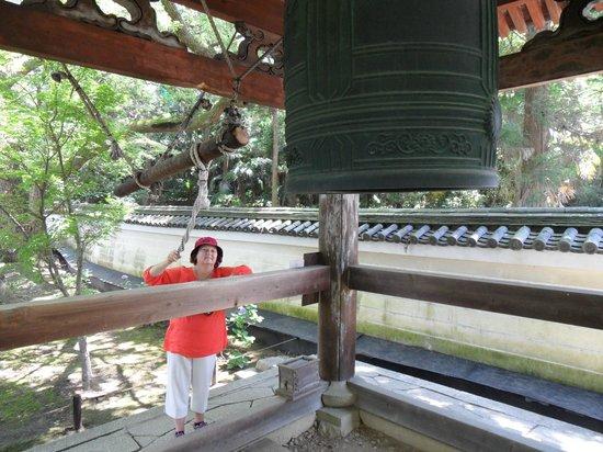 Shoren-in Temple (Shoren-in Monzeki): Ring that bell