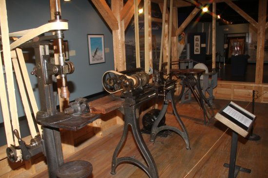 New Brunswick Museum: Woodworking dispaly