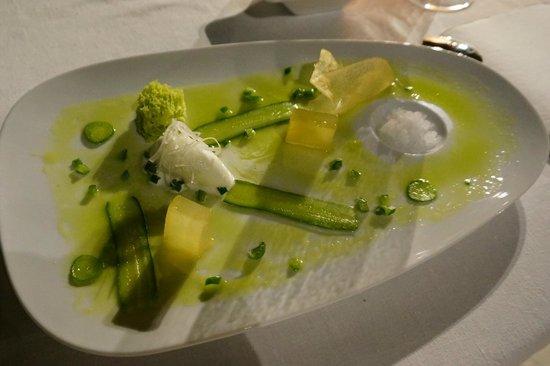 Martin Berasategui: 2013 The dessert of apple, lemon, celery, cucumber, gin and mint