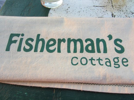 Fisherman's Cottage: cute little menu's...but they make you whatever you want.