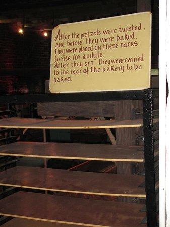 Julius Sturgis Pretzel Bakery: Dryng Rack