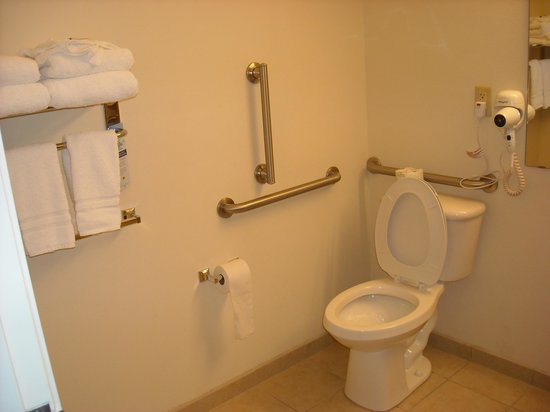 Microtel Inn & Suites by Wyndham Eagle Pass: handicapped double room bathroom