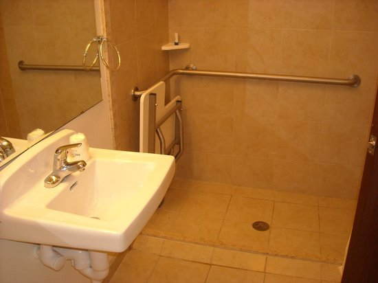 Microtel Inn & Suites by Wyndham Eagle Pass : handicapped double room bathroom