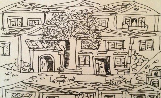 Thomas egen tegning af Foros