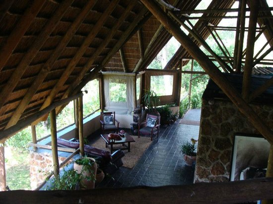 Muchenje Safari Lodge: View of lobby area from library