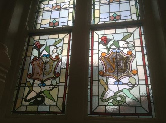 Toll House Inn : one of a number of stained glass windows in the hotel