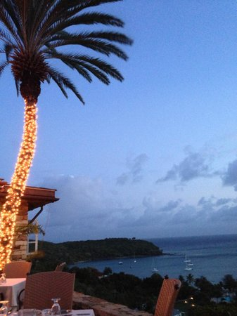 The Inn at English Harbour: evening view from restaurant