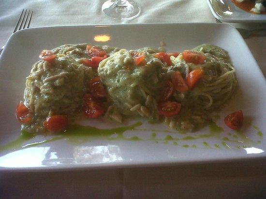 Is Molas Resort : spaghetti pesto e sarde (li sogno di notte..)