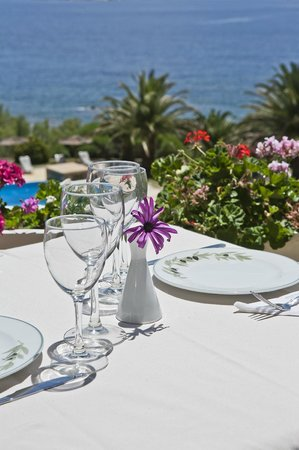 Andros Holiday Hotel: φαγητο με υπεροχη θεα! και νοστιμοοοο
