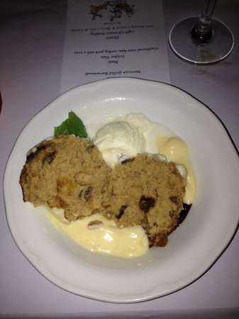 The Clarendon Guesthouse: christmas pudding (apparently)