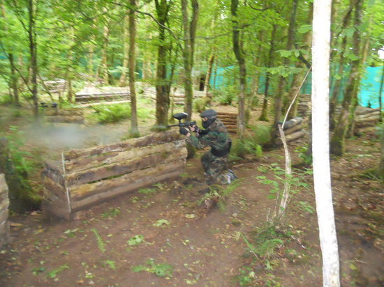 Clare Paintball - Deerpark Outdoor Centre: Fighting for the cross in The Holy Ground
