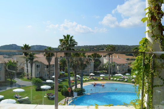 Amazing view from 6a 301 picture of aparthotel hg jardin for Aparthotel jardin de menorca