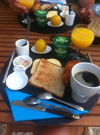 Le Mas d'Alphonse : le petit déjeuner