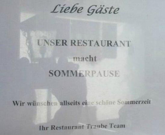 Hotel Traube: Restaurant fermé ou pause - Arnaque